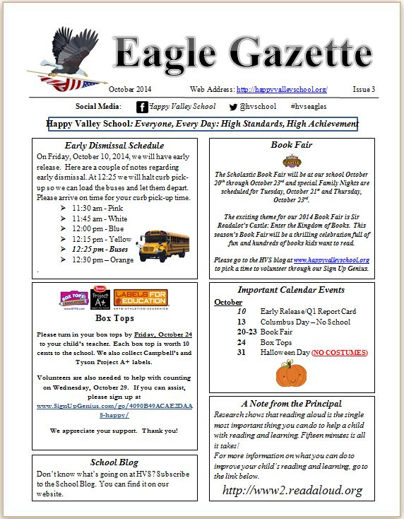 Eagle Gazette October 2014