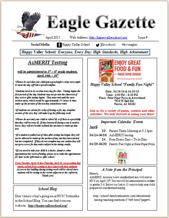 Eagle Gazette April