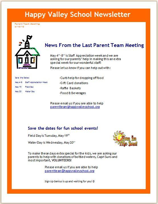Parent Team Letter
