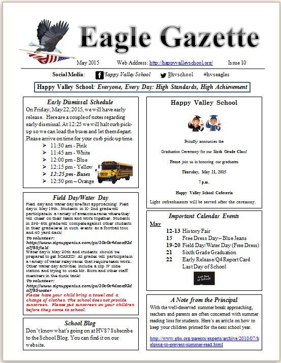 Eagle Gazette May